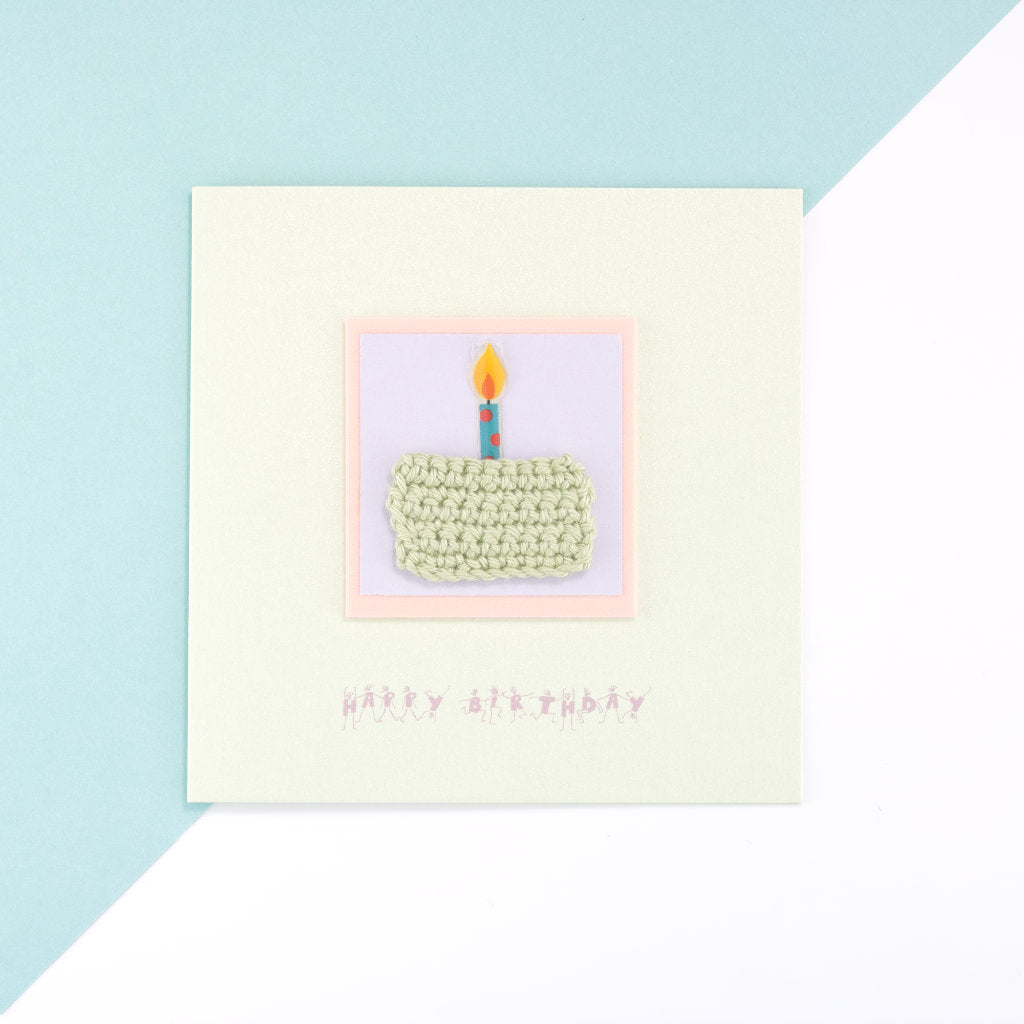 Birthday Cake Card - Opalescent