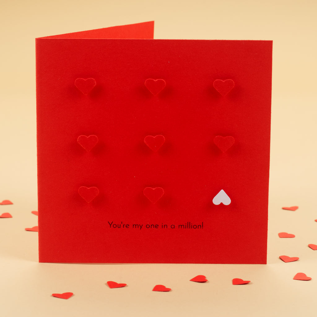 Handmade You are my one in a million! Card - Strawberry Red