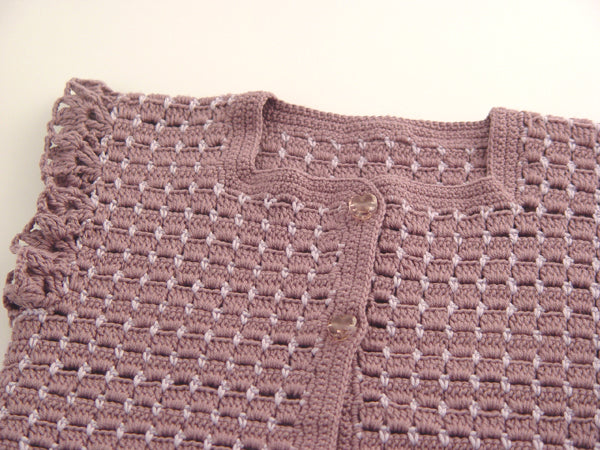 Handmade Cotton Vest - Purple