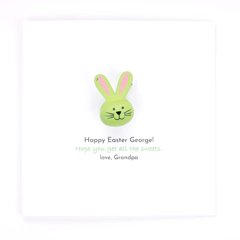 Personalised Easter Handmade Card And Gift - Green