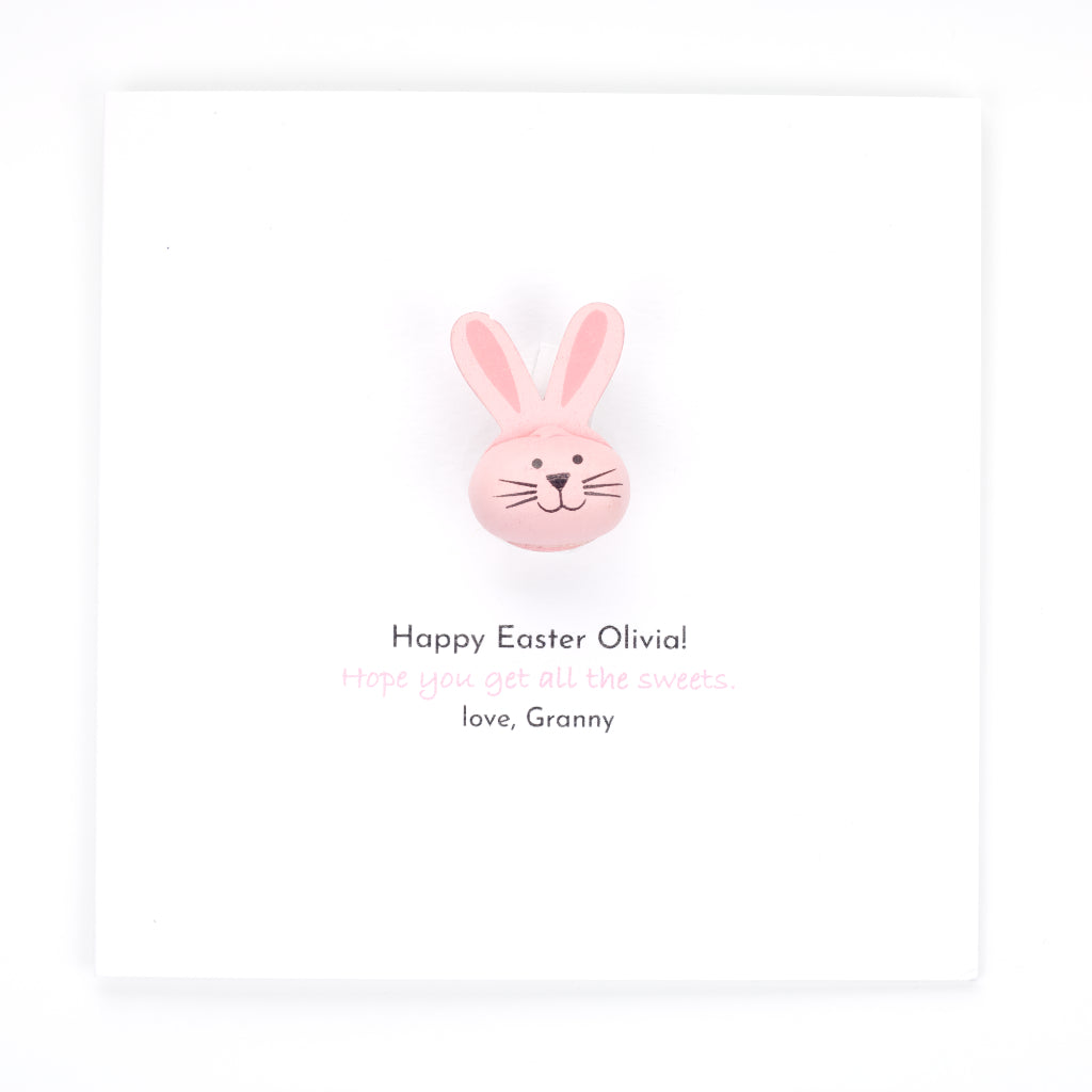 Personalised Easter Handmade Card And Gift - Pink