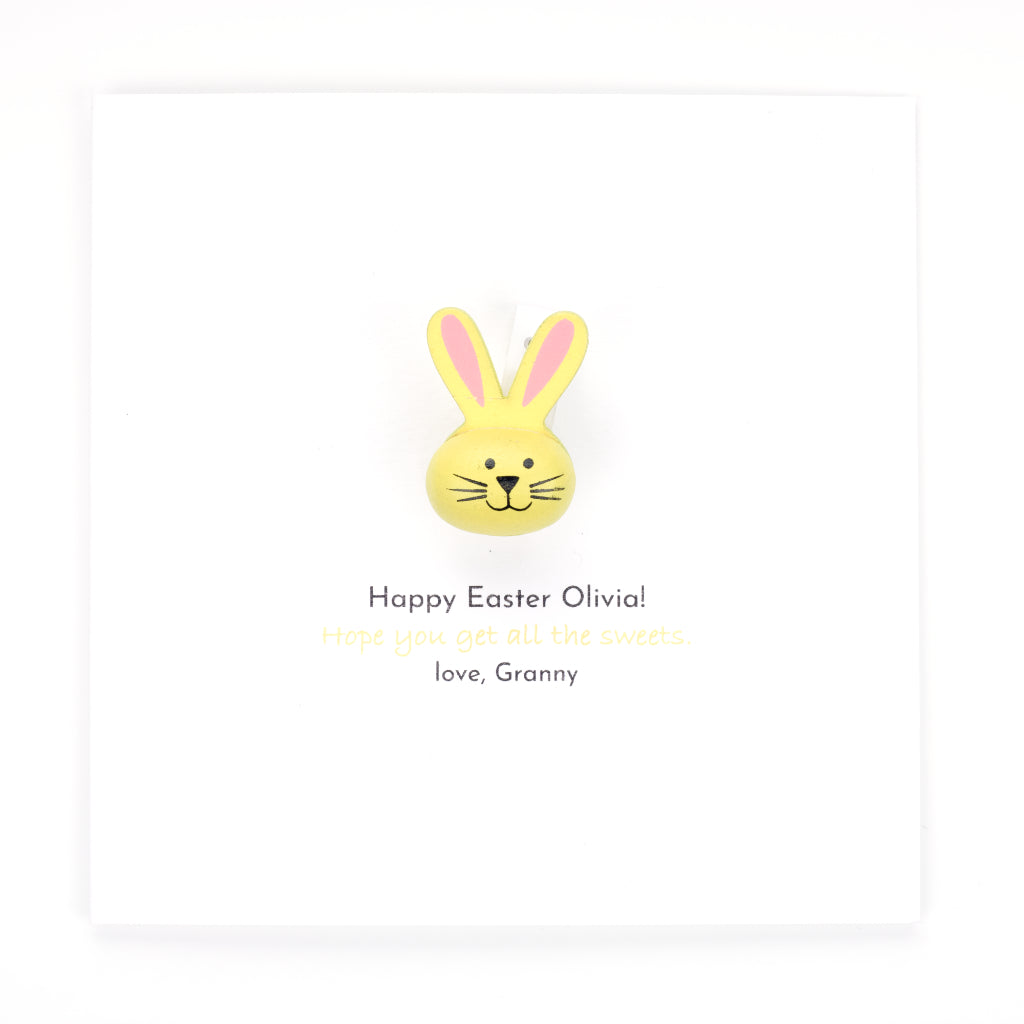 Personalised Easter Handmade Card And Gift - Yellow