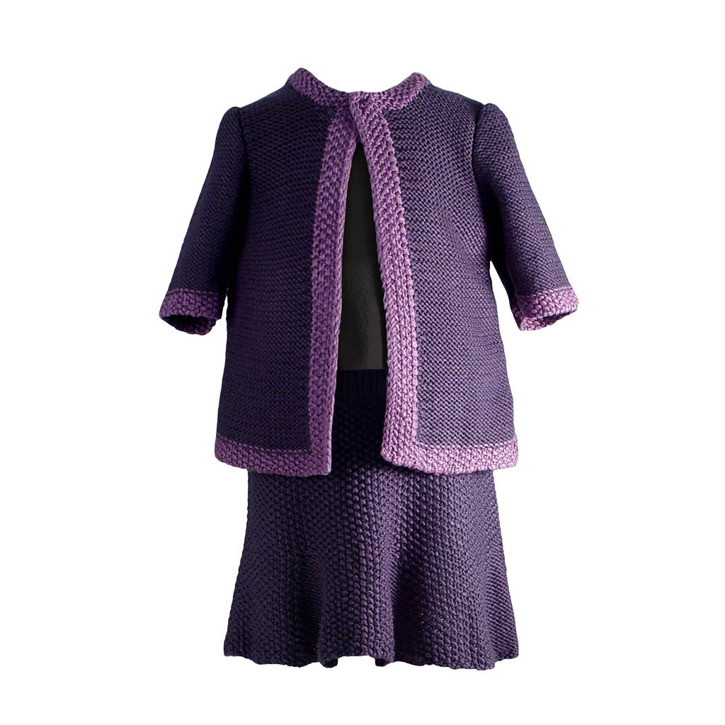 Handmade Bamboo Cardigan and Skirt Set - Gypsum