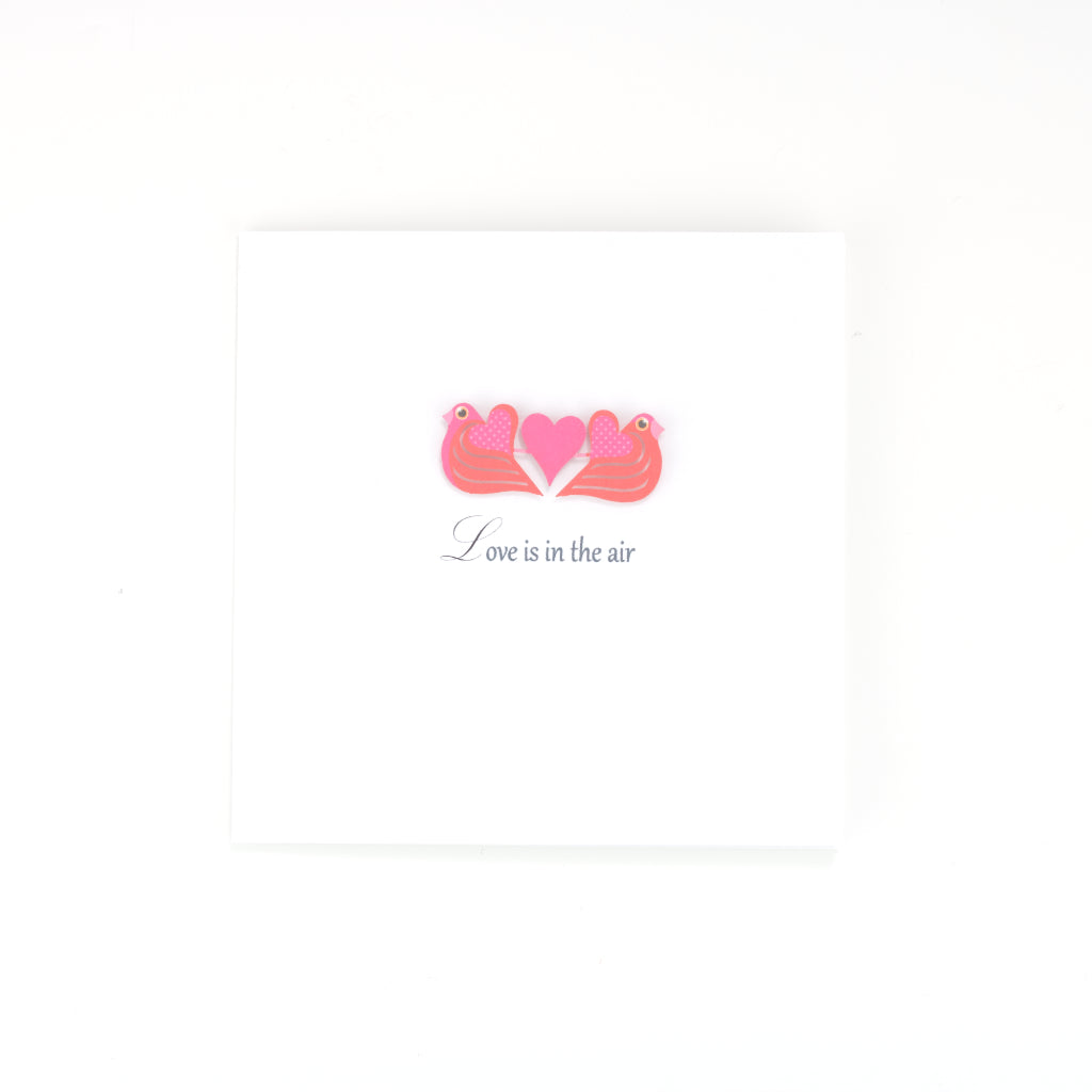 Handmade Love Is In The Air Card - White