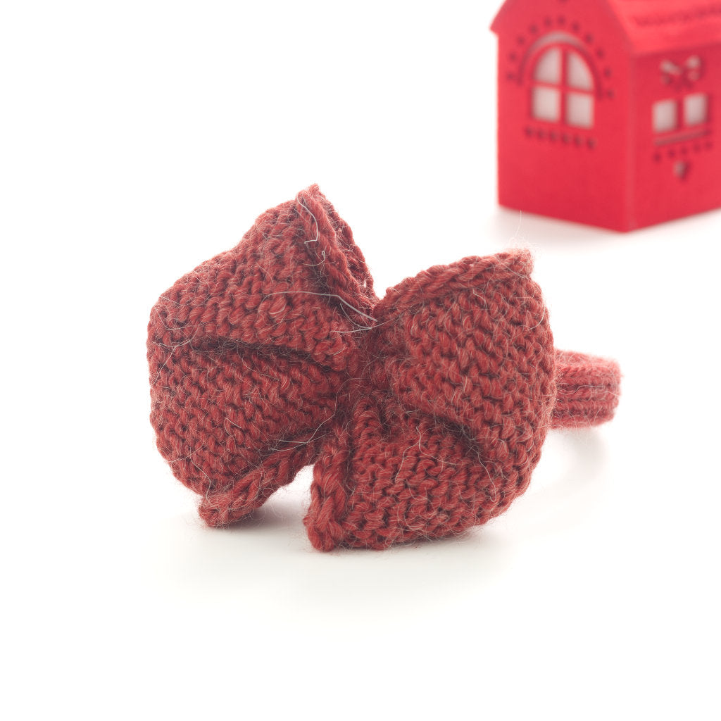 Handmade Merino Bow Hairband - Quarry Tile