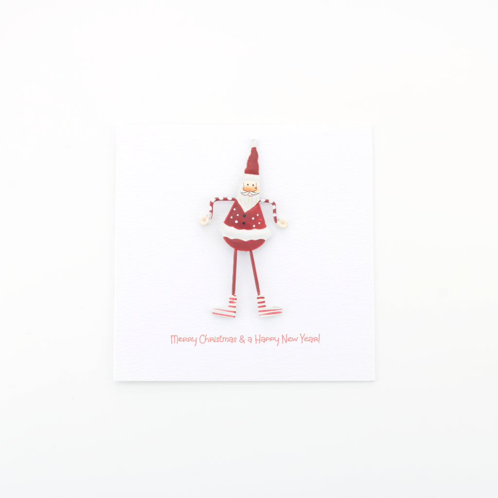 Handmade Love from Santa Card - White