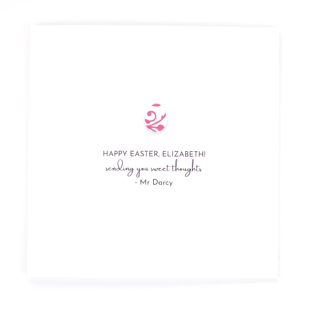 Personalised Happy Easter Card