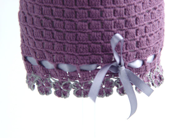 Handmade Organic Flowers Hat - Purple