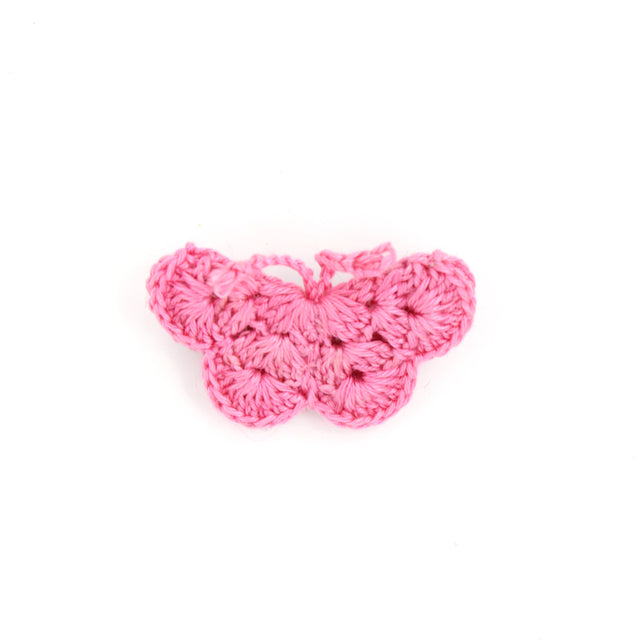 Handmade Cotton Butterfly Brooch - Pink