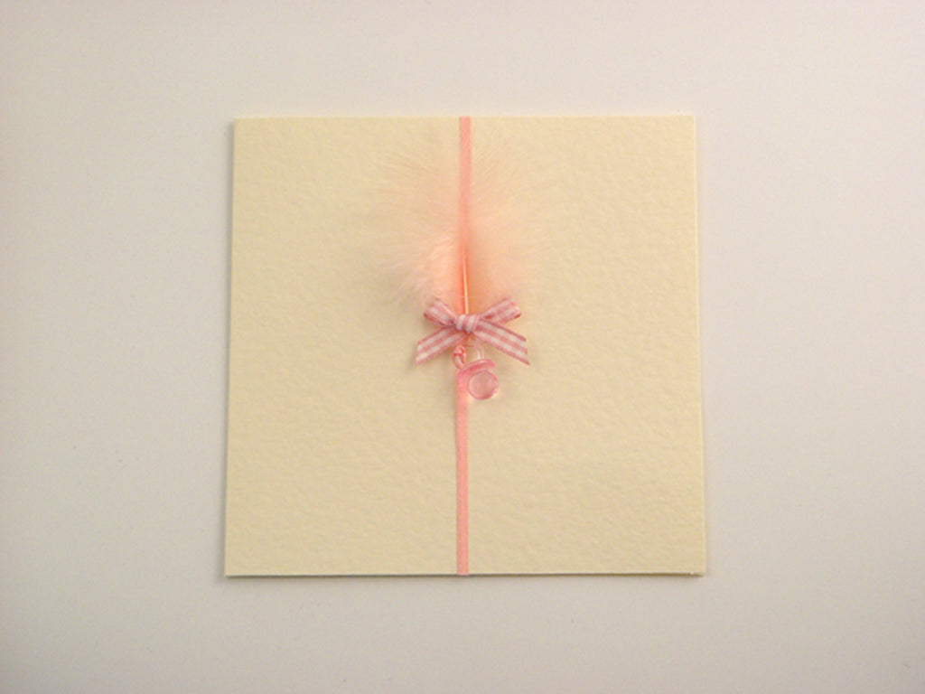 Handmade card to welcome new baby girl