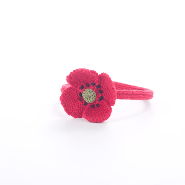 Handmade Poppy Hairband - Poppy Red