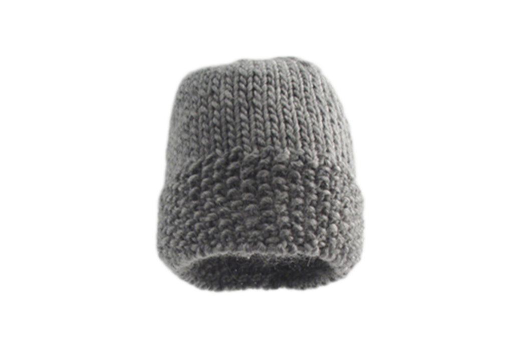 Handmade Merino Double Moss Unisex Hat - Scree
