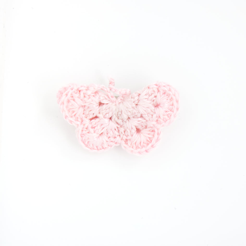 Handmade Cotton Butterfly - Sugar Pink