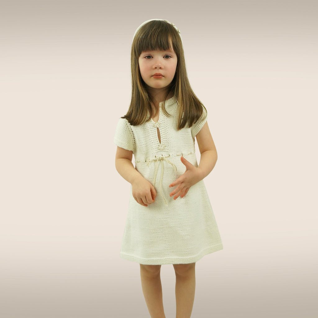 Handmade Organic Dress - White