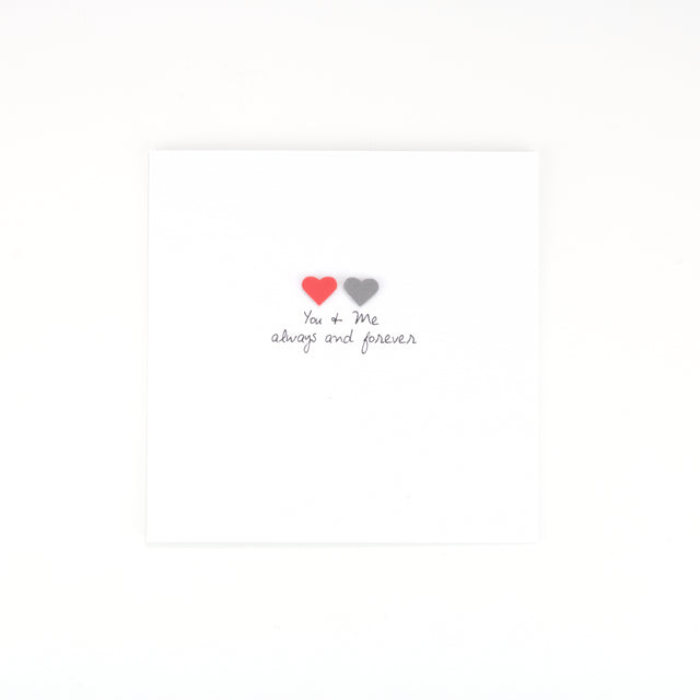 Handmade You & Me Always and Forever Card - White