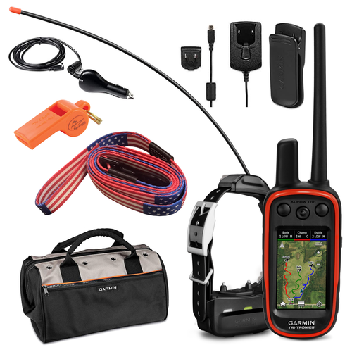 Garmin Alpha 100 GPS Track and Train Handheld Only or with Collar with Wearable4U Bundle