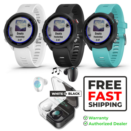 Wearable4U Garmin Forerunner 245 GPS Running Smartwatch with Included Bundle