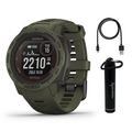 Garmin Instinct Solar Tactical Edition Premium GPS Smartwatch with Included Wearable4U Bundle