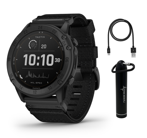 Garmin tactix Delta Tactical Military GPS Smartwatch with Wearable4U Bundle