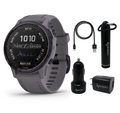 Garmin Fenix 6S Pro Solar, Women of Adventure, Premium Multisport GPS Watches with Wearable4U Bundle