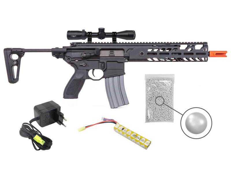 Sig Sauer Airsoft Proforce MCX AEG Electric Airsoft Gun and Wearable4U Bundle