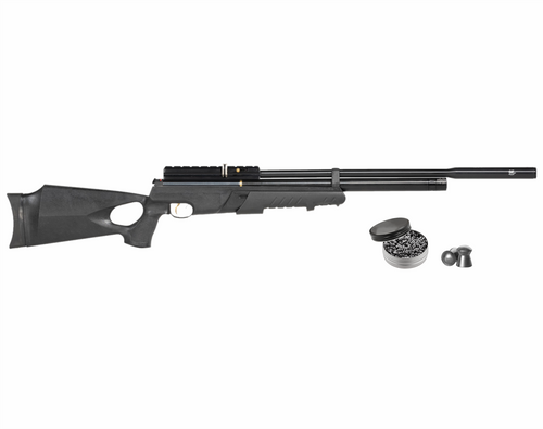 Hatsan AT44PA-10 Pump Action Long QuietEnergy QE .25 cal AirRifle with Wearable4U .25 Caliber 150ct Lead Pellets Bundle