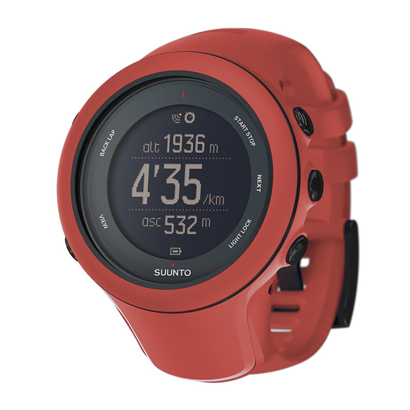 Suunto Ambit3 Sport GPS Multisport Watch red color with red silicone band