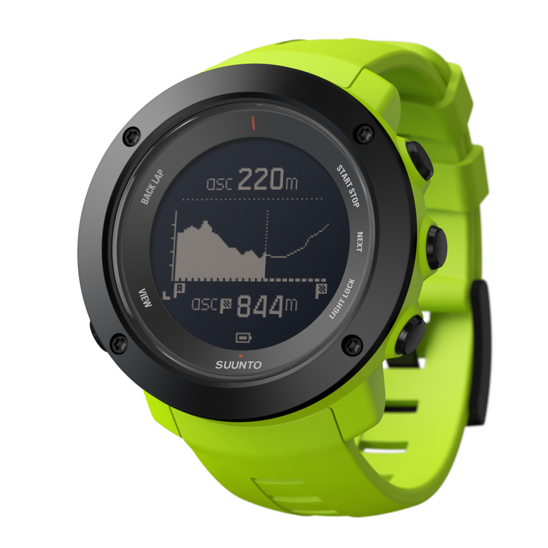 Suunto Ambit3 Vertical HR GPS Multisport Watch black with green silicone band