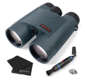 Athlon Optics 10x50 UHD Laser Rangefinder Binocular with included Extra Battery CR2032 and Wearable4U Lens Cleaning Pen and Lens Cleaning Cloth Bundle