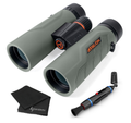 Athlon Optics Neos HD Binoculars with included Wearable4U Lens Cleaning Pen and Lens Cleaning Cloth Bundle