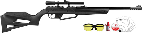 Umarex NXG APX Multi-Pump Pneumatic Youth .177 Cal Pellet or BB Airrifle with 4x15mm Scope and Combo Bundle (5-targets, Shooting glasses, 500 BBs and 500 pellets)