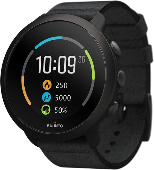 SUUNTO 3 All Black Durable Sports GPS Watch with Adaptive Training Guidance