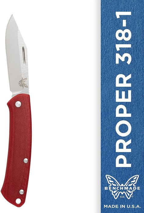 Benchmade Proper 318-1 Clip-Point Blade Red Knife