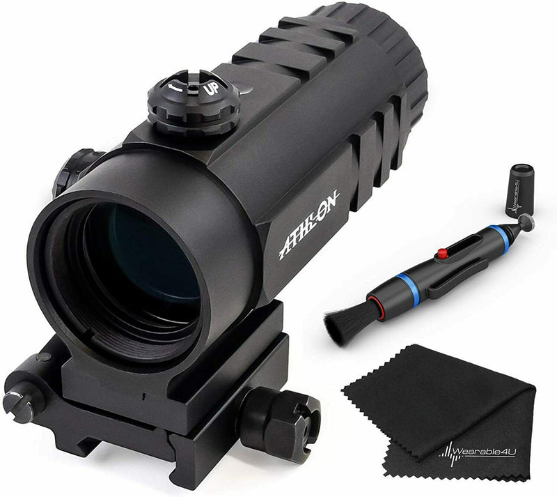 Athlon Optics Midas MG31 - 3 x 27.5 Magnifier with included Wearable4U Lens Cleaning Pen and Lens Cleaning Cloth Bundle