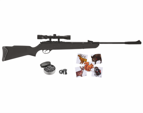 Hatsan Mod 125 Spring Combo .25 Cal Air Rifle with Wearable4U 100x Paper Targets and 150x .25cal Lead Pellets Bundle