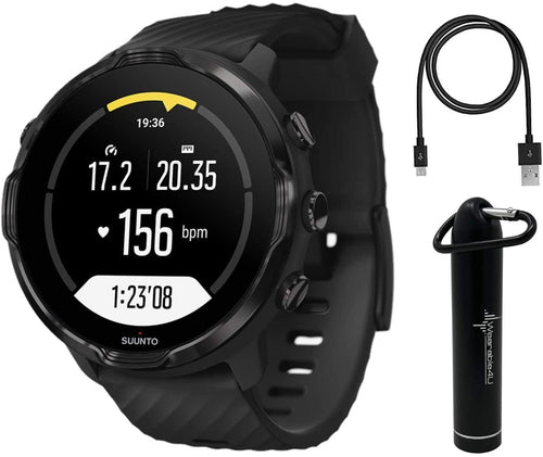 SUUNTO 7 Black GPS Smartwatch with Versatile Sports Experience with Wearable4U Power Pack Bundle