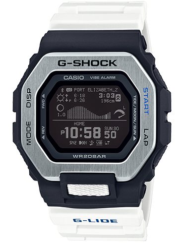 Casio G-Shock GBX-100-7CR Black and White Resin Watch