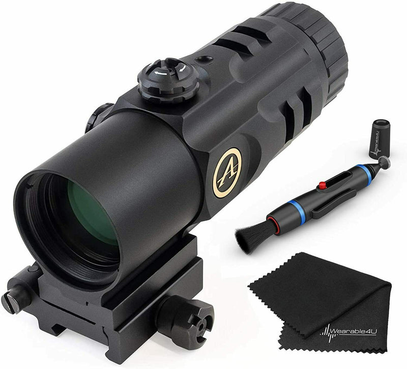 Athlon Optics Midas MG51 5 x 30 Magnifier with included Wearable4U Lens Cleaning Pen and Lens Cleaning Cloth Bundle