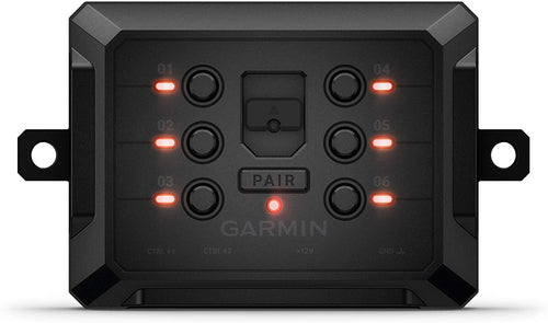Garmin PowerSwitch, Compact Digital Switch Box, Controls 12V Accessories, Requires Compatible Smartphone or Garmin Navigator, 010-02466-00