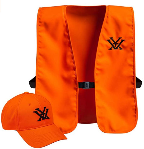 Vortex Optics Blaze Orange Vest & Hunting Hat Combo