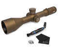 Athlon Optics Ares ETR 4.5-30x56, Direct Dial, Side Focus, 34mm Riflescope with included Extra Battery CR2032 and Wearable4U Lens Cleaning Pen and Lens Cleaning Cloth Bundle