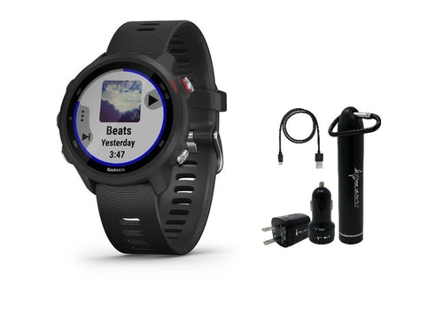 Garmin Forerunner 245 Music GPS Running Smartwatch with Included Power Pack Bundle