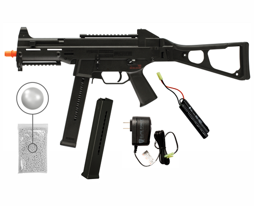 Umarex HK HeckIer&Koch UMP AEG Electric Full / Semi Automatic 6mm BB Rifle Airsoft Gun with Wearable4U Bundle