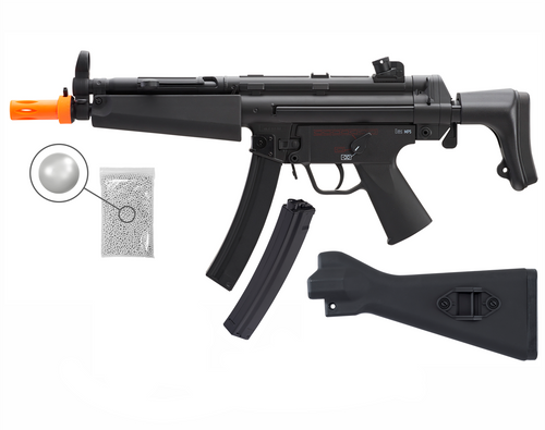 marex Elite Force HK Heckler & Koch MP5 AEG Automatic 6mm BB Rifle Airsoft Gun, MP5 Competition Kit with 2 Mags Pack of 1000 6mm BBs
