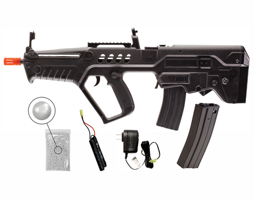 Umarex Elite Force IWI Tavor 21 (Competition Series) AEG 6mm BB Rifle Airsoft Gun with Wearable4U Bundle