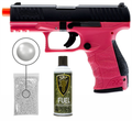 Umarex Elite Force Walther PPQ Green Gas Blowback Pistol GBB Airsoft Gun (Wildberry) with Wearable4U Bundle
