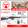 Umarex Elite Force Amoeba AS-01 Striker Rifle Gen2 6mm BB Sniper Airsoft Rifle with Spare 45rds Mag and Wearable4U Pack of 1000 6mm BBs Bundle