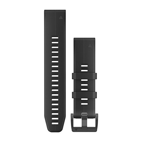 Garmin 010-12741-00 Quickfit 26 Watch Band - Black Silicone - Accessory Band for Fenix 5X Plus/Fenix 5X