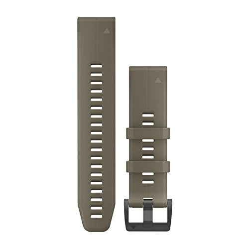 Garmin 010-12740-05 Quickfit 22 Watch Band - Coyote Tan Silicone - Accessory Band for Fenix 5 Plus/Fenix 5