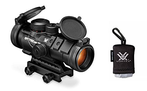 Vortex Optics SPR-1303 Spitfire 3x Prism Scope With EBR-556_ Reticle (MOA) With Vortex Spudz Microfiber Lens Cloth Bundle